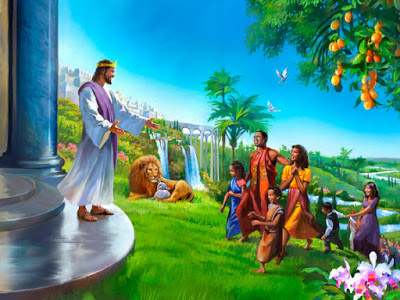 new earth  family jesus lion lamb[1]
